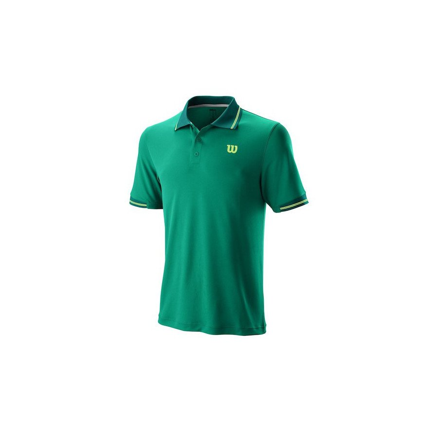 Wilson Tennis Shirt (2019 Men's Star Tipped Polo) from Tennis Shop