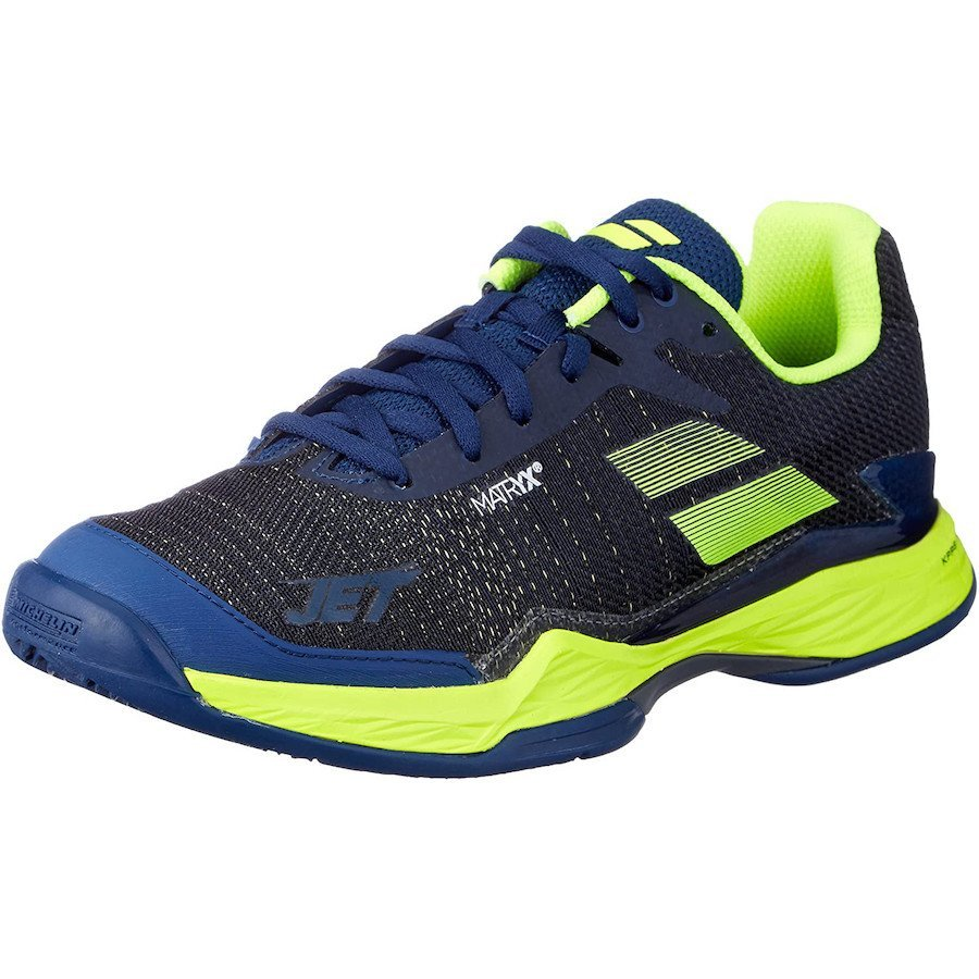 Babolat Tennis Shoes – Jet Mach II for Men (black-yellow-blue)
