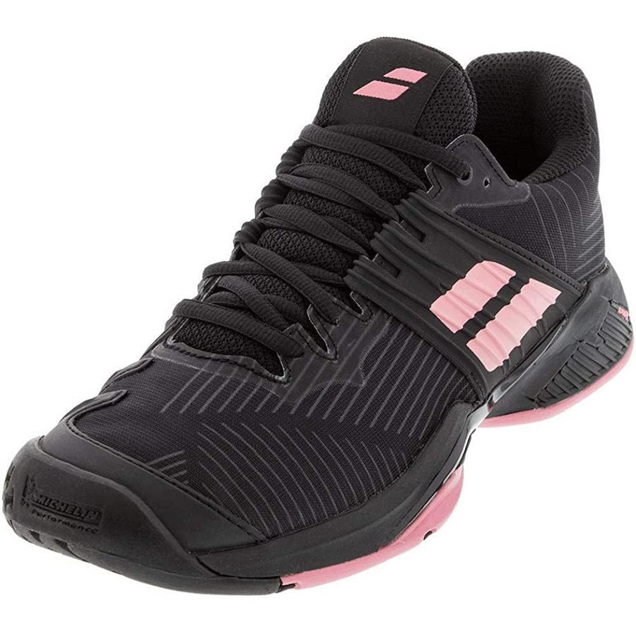 Babolat Tennis Shoes – Tennis Propulse Fury All Court for Women (Black & Pink)