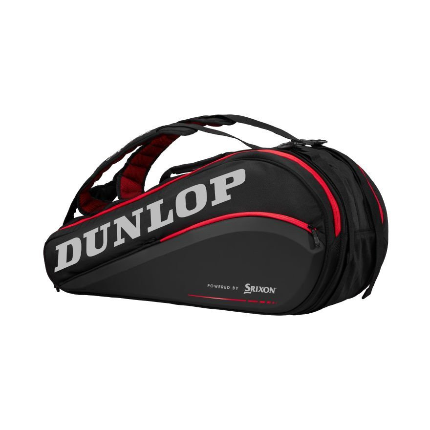 Dunlop Tennis Bag – CX SERIES 9-RACKET THERMO (RED & BLACK)