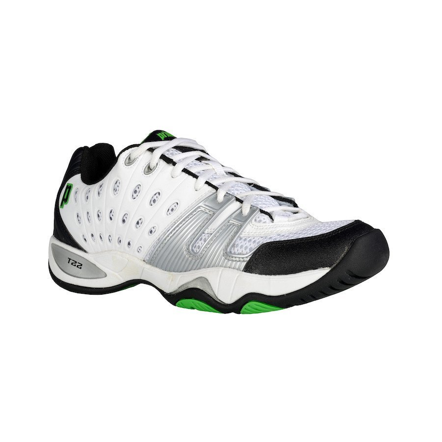 Prince Tennis Shoes – T22 White-Black-Green (Men)