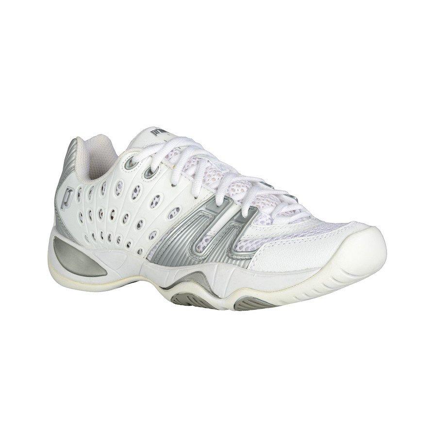 Prince Tennis Shoes – T22 White-Silver (Women)