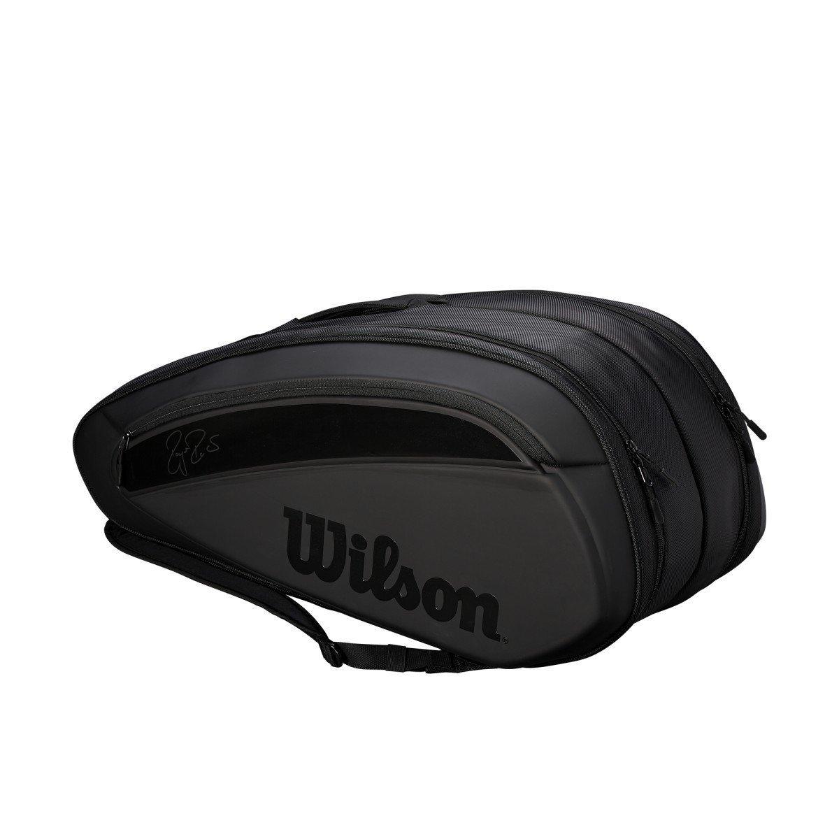 Wilson Tennis Bag – 2018 Federer DNA 12-Pack Bag - Black