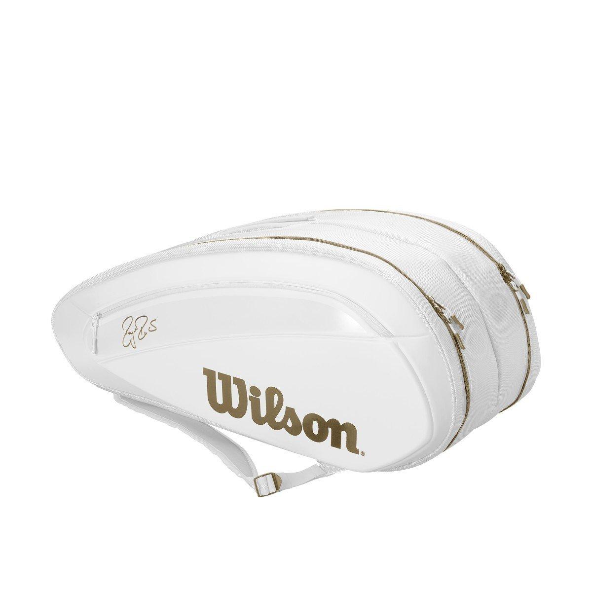 Wilson Tennis Bag – Federer DNA 12-Pack Bag (White)