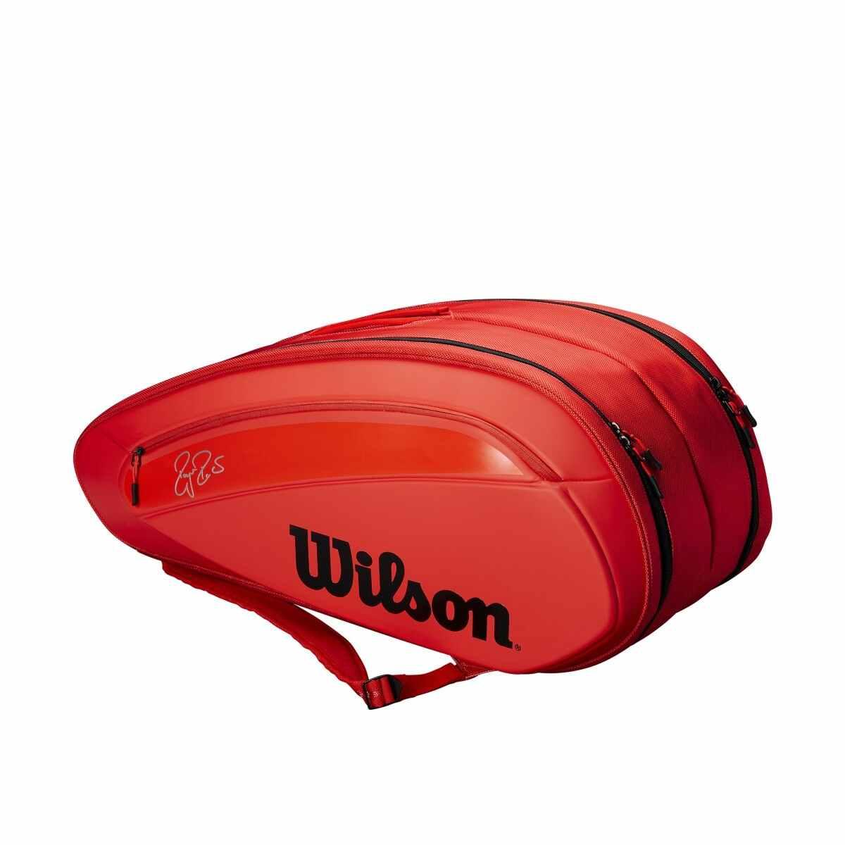 Wilson Tennis Bag – Federer DNA 12-Pack Infrared