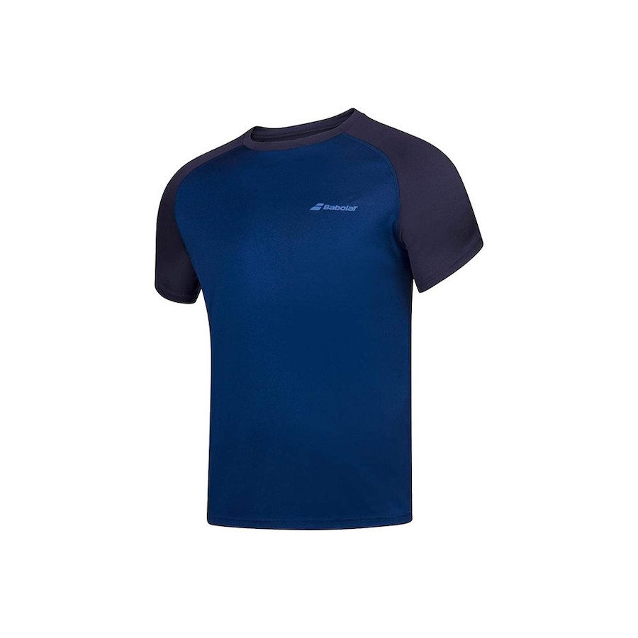 Babolat Tennis Apparel – Men's Play Crew Neck (Dark Blue)