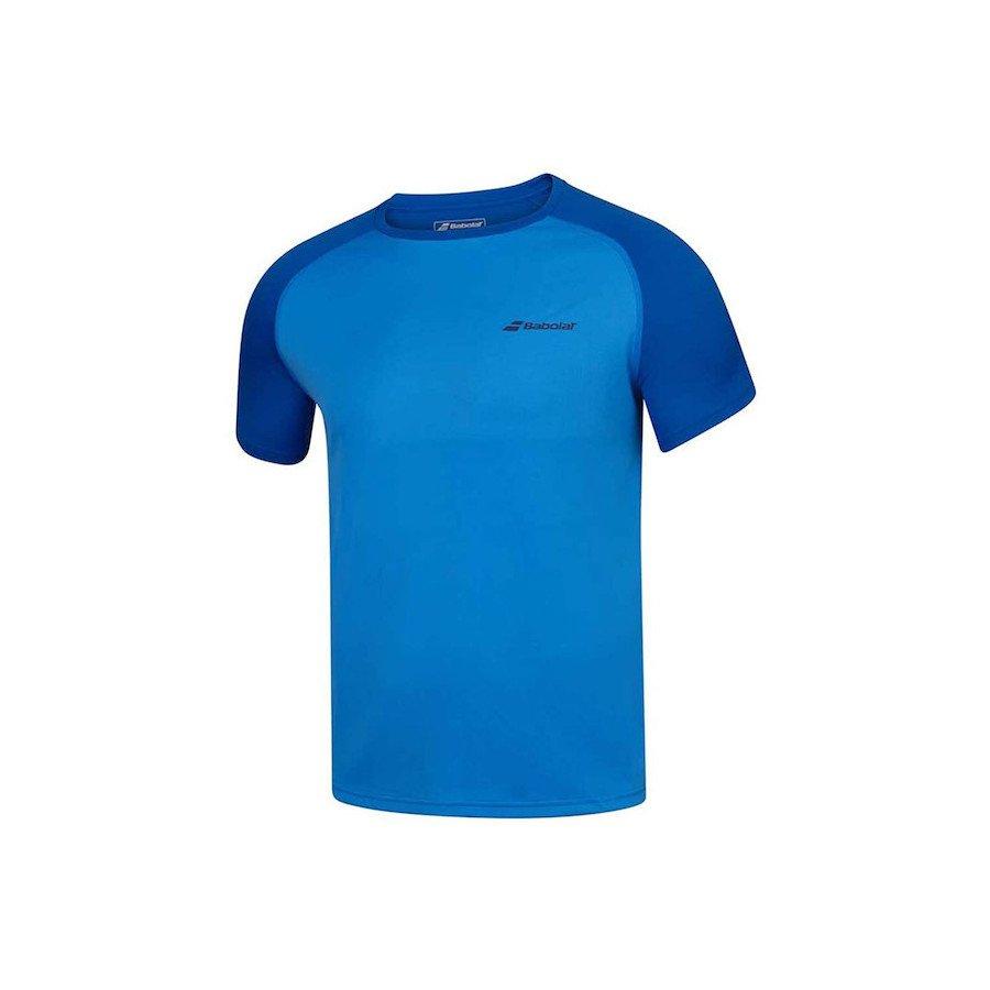 Babolat Tennis Apparel – Men's Play Crew Neck Training Tee (Blue)
