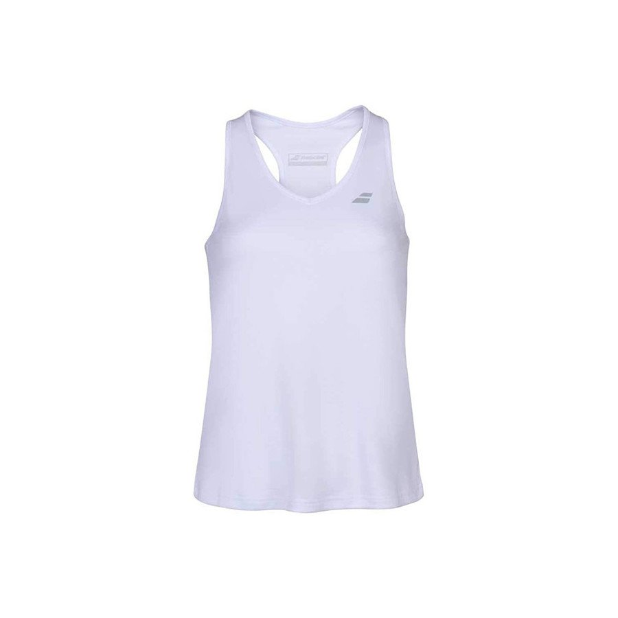 Babolat Tennis Clothing – Women's Play Tennis Tank Top (White)