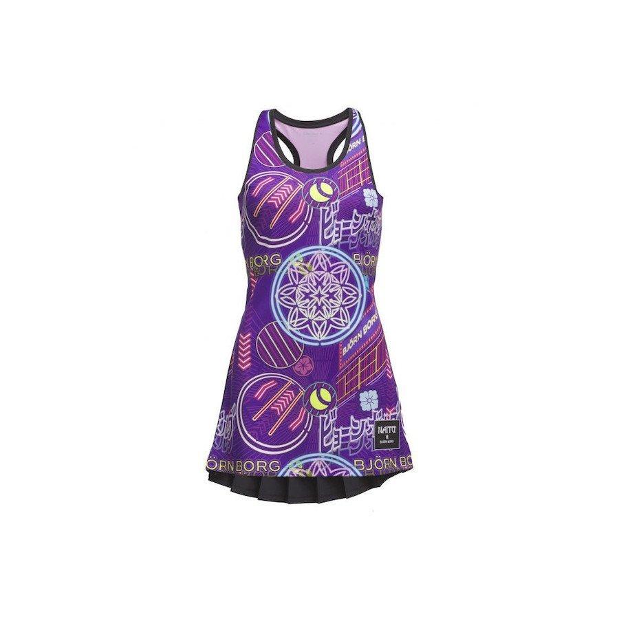 Bjorn Borg Women's Tennis Outfits – Tess Dress Naito Purple