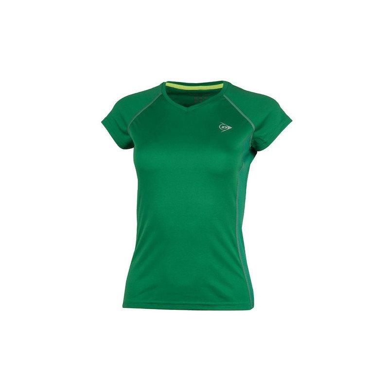 Dunlop Tennis Clothing – WOMEN'S CREW TEE CLUB LINE (Green)