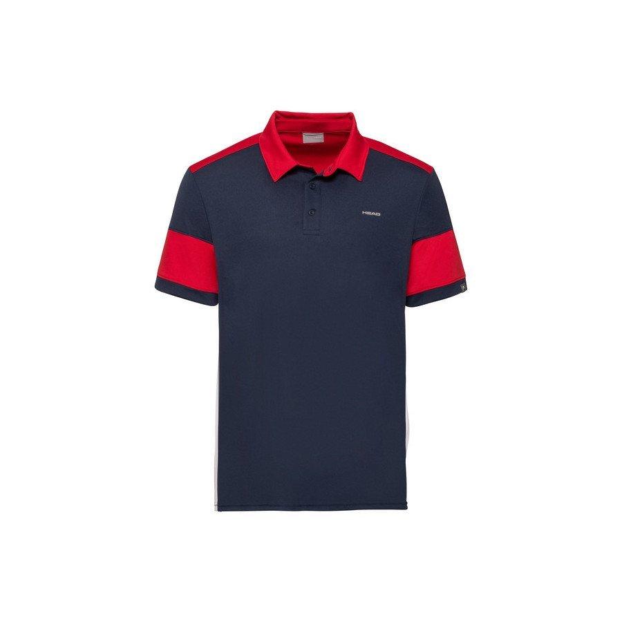 Head Tennis Apparel – ACE Polo Shirt (Black & Red)