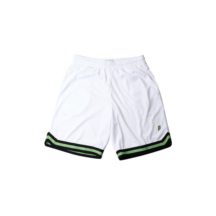 Prince Tennis Apparel – Men's Short (White & Black Striped Reflex Shorts)