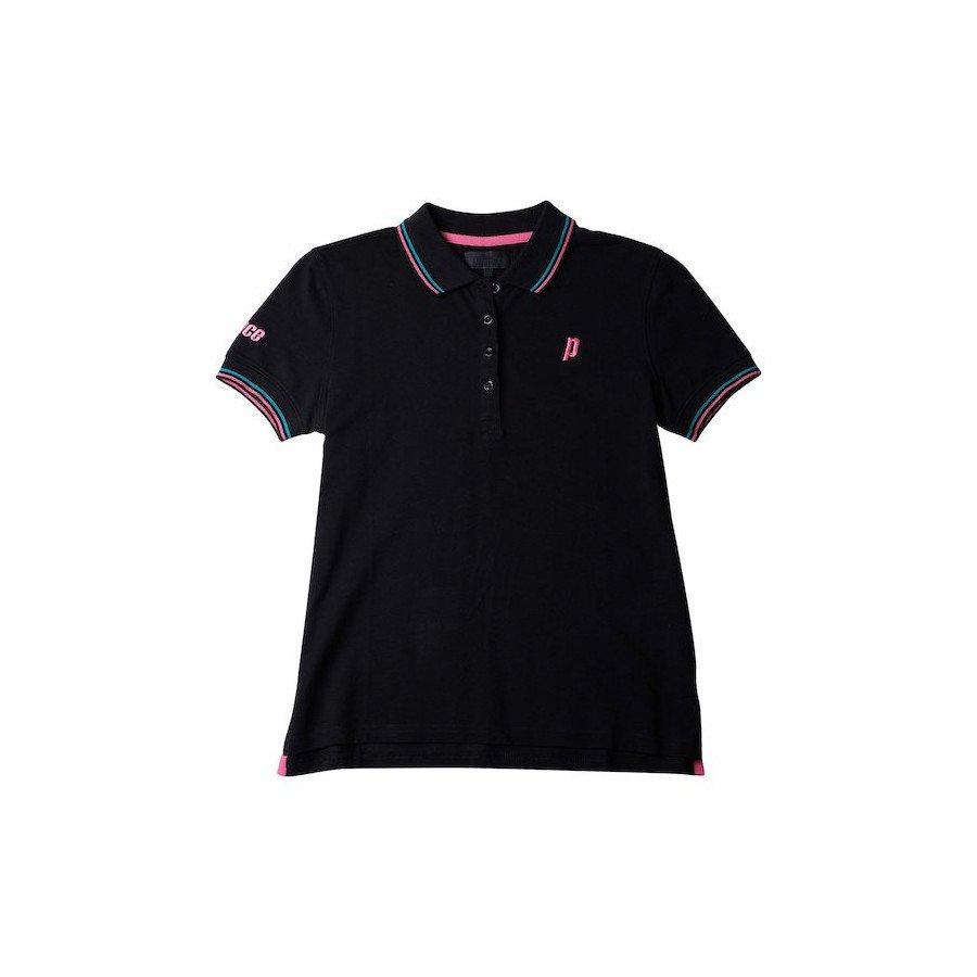 Prince Tennis Clothing – Women's Black Court Polo