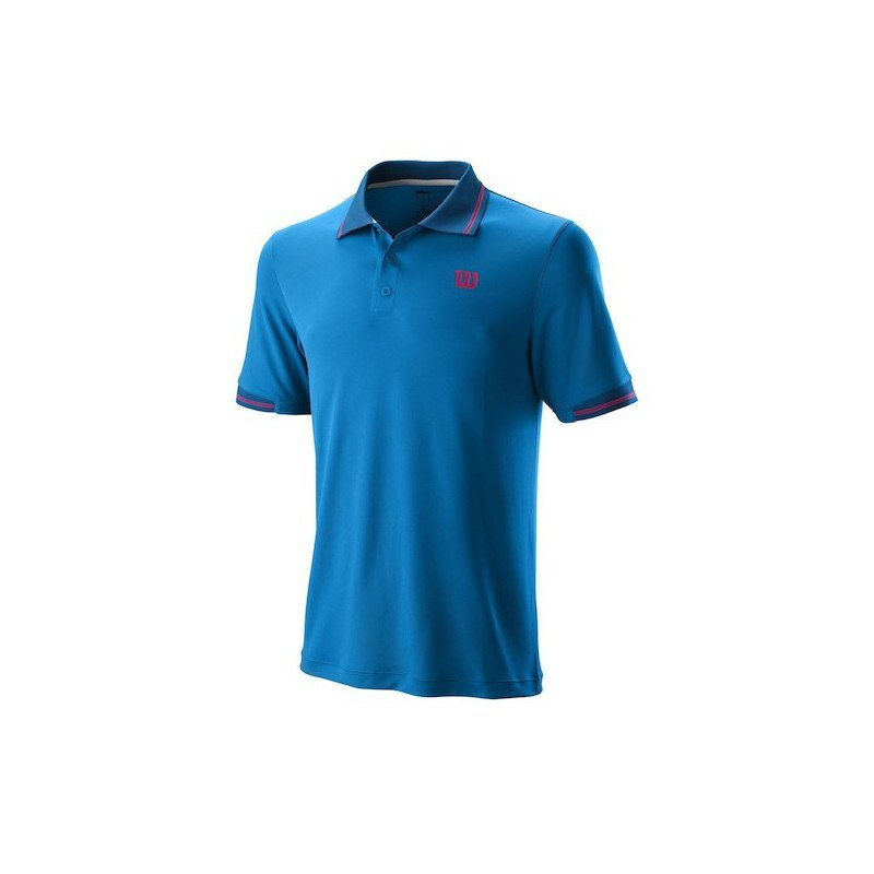 Wilson Tennis Apparel – 2019 Men's Star Tipped Polo Tennis Shirt