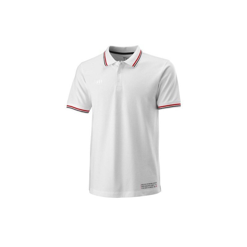 Wilson Tennis Apparel – Men's Since 1914 Pique Polo Tennis Shirt