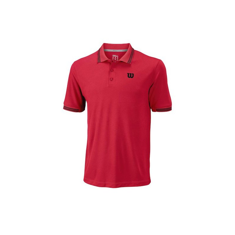 Wilson Tennis Apparel – Men's Star Tipped Polo Tennis Shirt