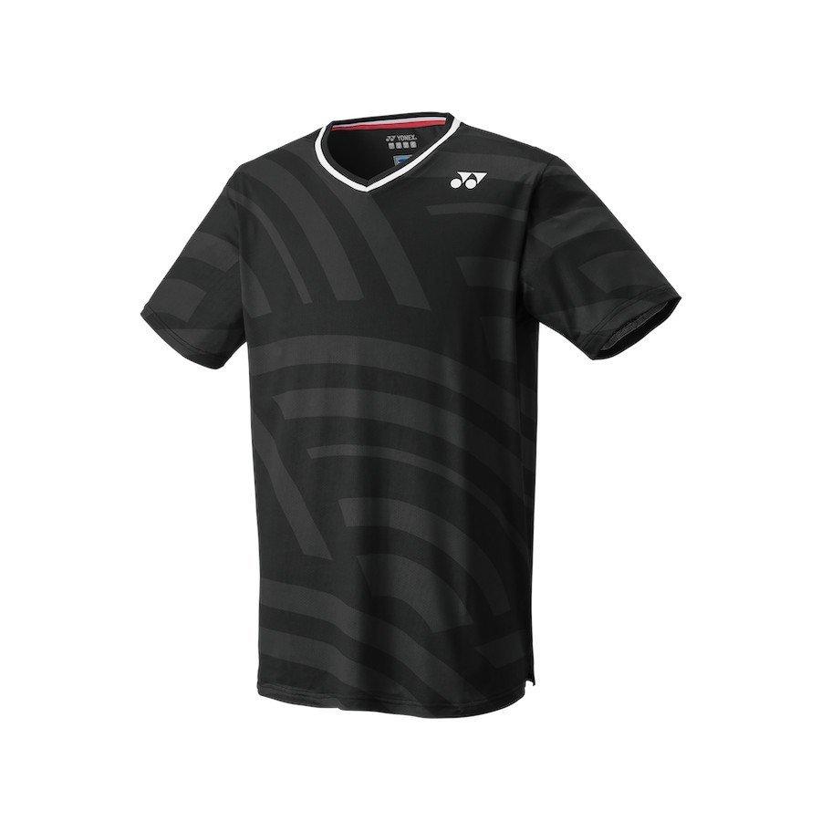 Yonex Tennis Apparel – Men's Crew Neck Shirt (Slim Fit) [black]