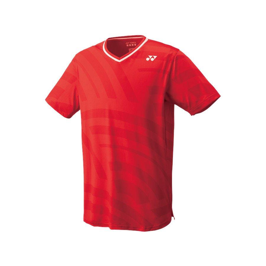 Yonex Tennis Apparel – Men's Crew Neck Shirt (Slim Fit) [flash red]