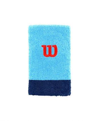 Wilson Tennis Accessories – Extra Wide W Wristband (Blue)