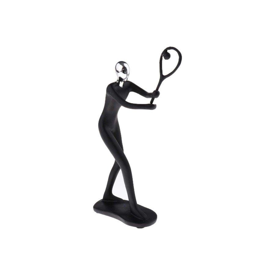Abstract Tennis Player Sculpture Resin Figurine (tennis art)