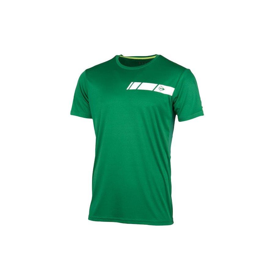 Dunlop Men's Crew Tee Club Line Tennis T-Shirt (Green)