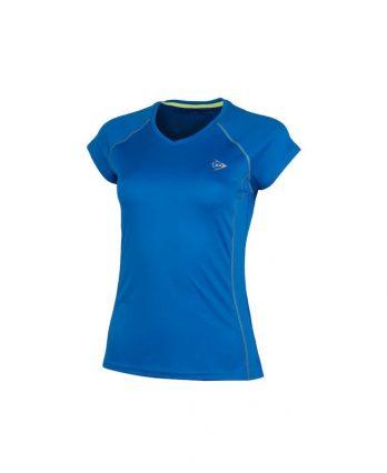 Dunlop WOMEN'S CREW TEE CLUB LINE Tennis T-Shirt (Blue)
