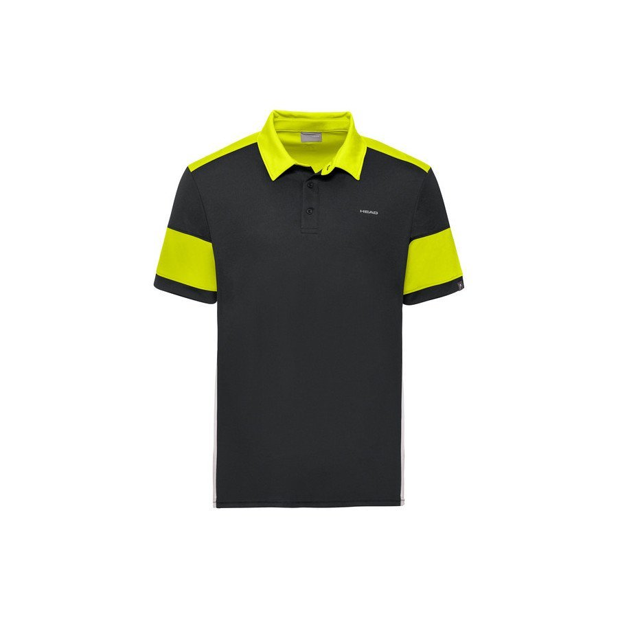 Head ACE Polo Tennis Shirt (Black & Yellow)