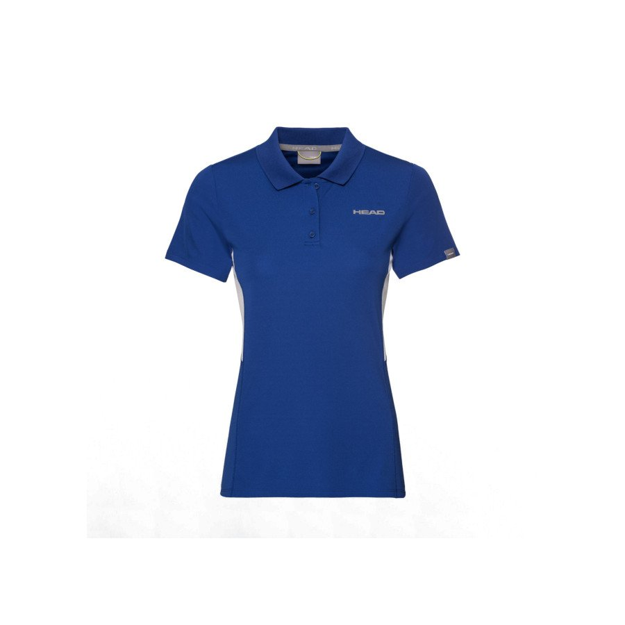 Head Women's Club Tech Polo Tennis Shirt (blue)