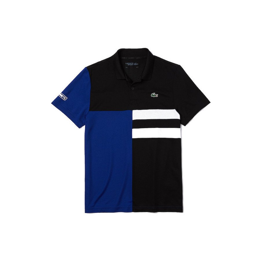 Lacoste Sport Colourblock Breathable Piqué Polo Tennis Shirt