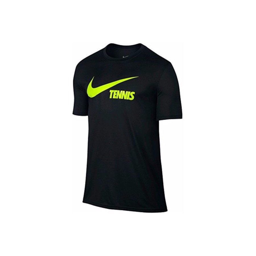 Nike Men's Swoosh Tennis T-Shirt (Black)
