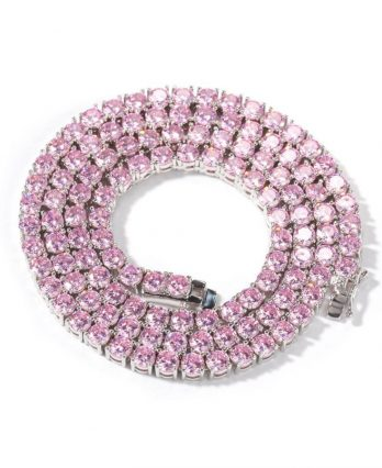 Pink Tennis Chain – White Gold (TENNIS GIFTS)