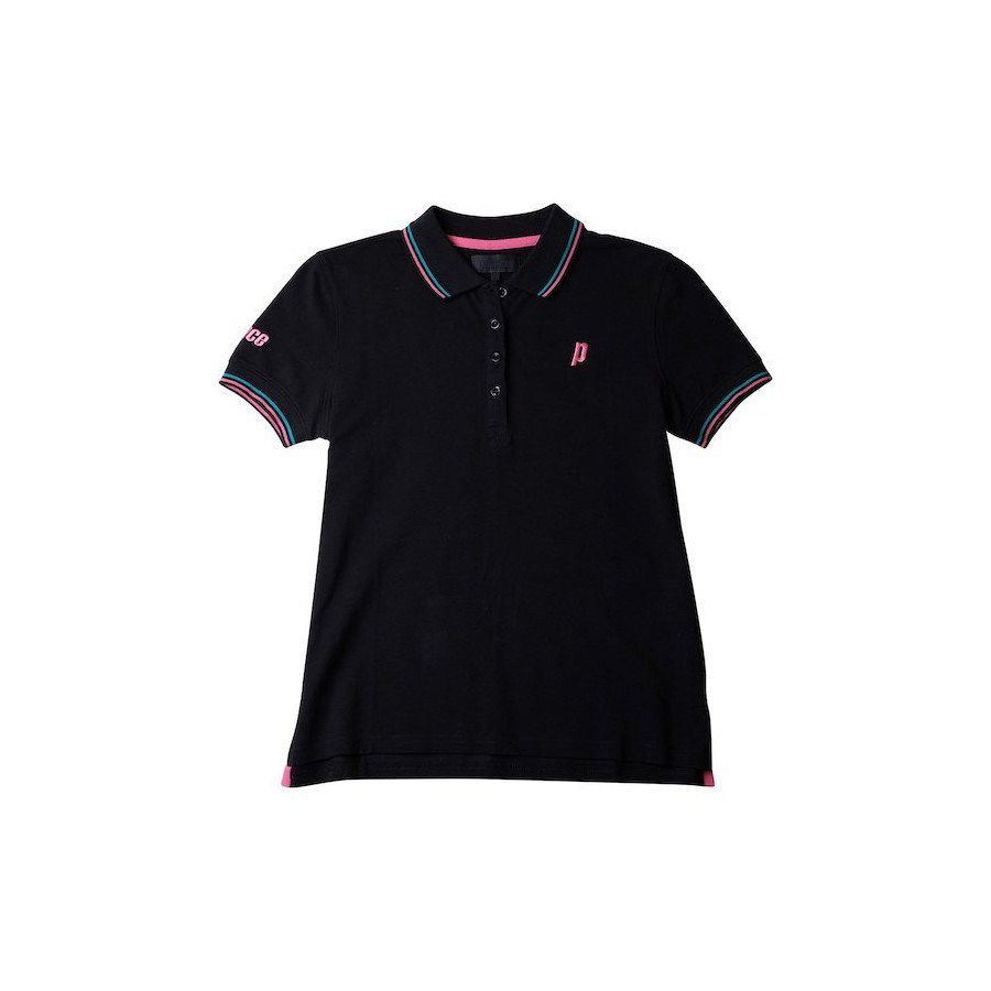 Prince Women's Black Court Polo Tennis Shirt