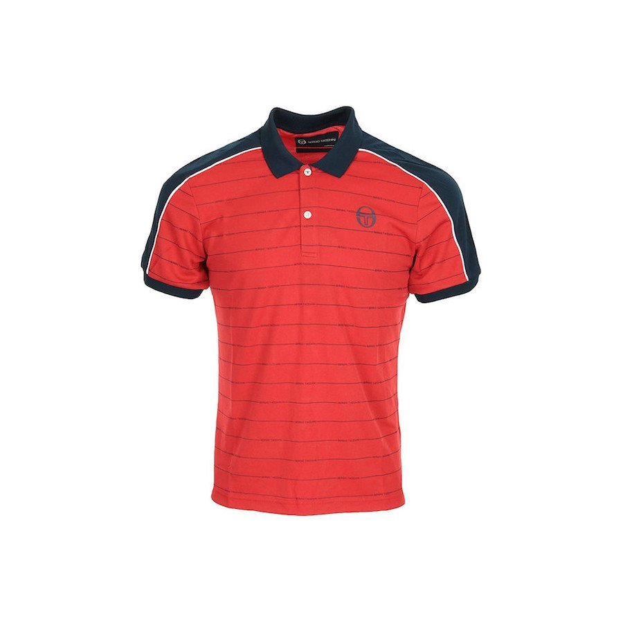 Sergio Tacchini Men's Fundi Polo Tennis Shirt