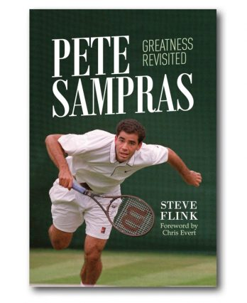 Tennis book titled 'Pete Sampras – Greatness Revisited (by Steve Flink)'