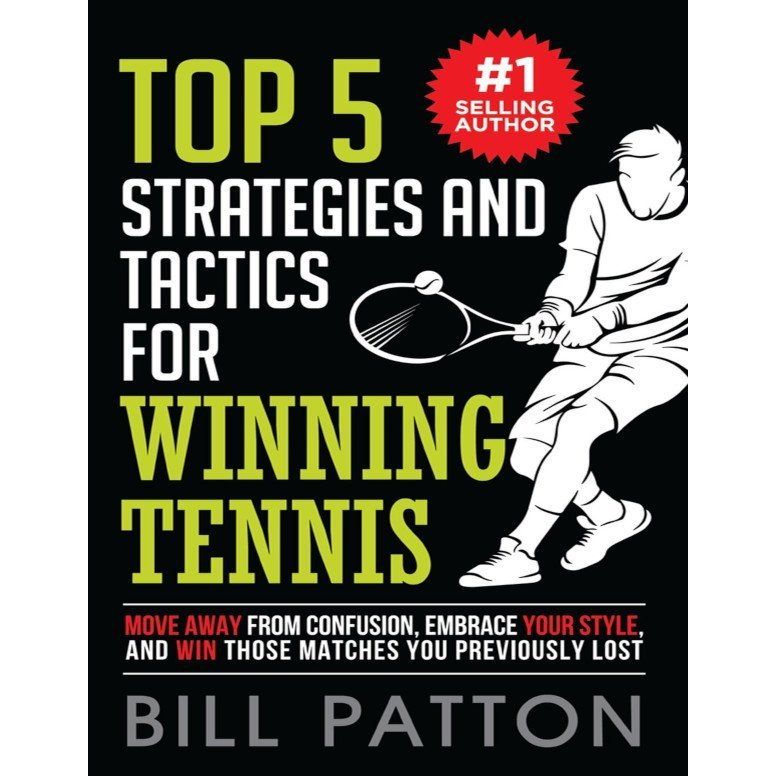 Tennis book titled 'Top 5 Strategies and Tactics for Winning Tennis'