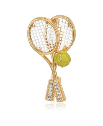Tennis racket brooches and pins (TENNIS GIFTS)