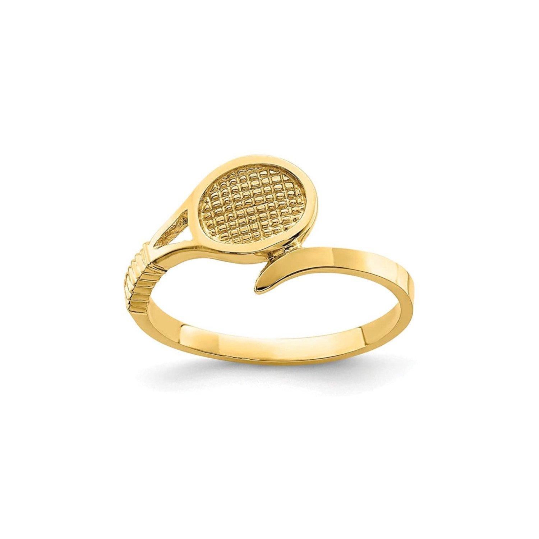 Yellow Gold Tennis Ring – 14K (TENNIS GIFTS)