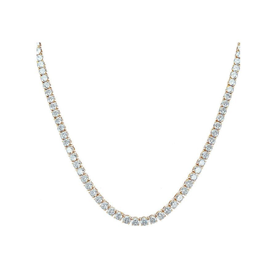 Diamond Tennis Chain for Men and Women – 18k Gold-Plated + Cubic Zirconia