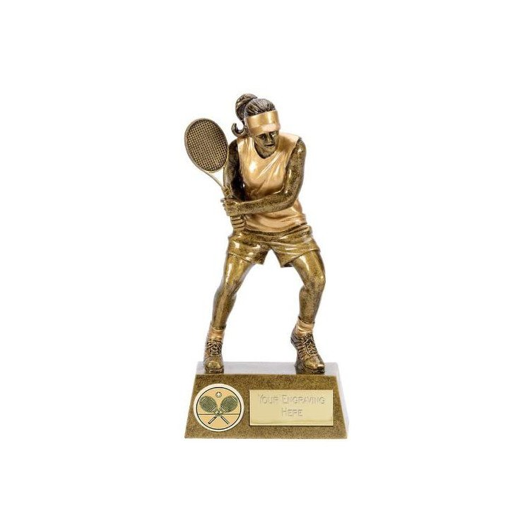 Female Tennis Trophy with Free Engraving
