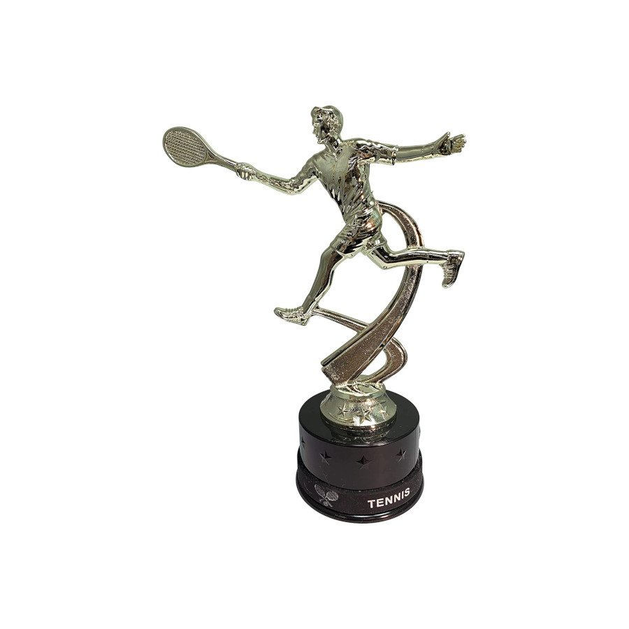 Male Tennis Trophy with Matching Removable Wearable Wrist Bands