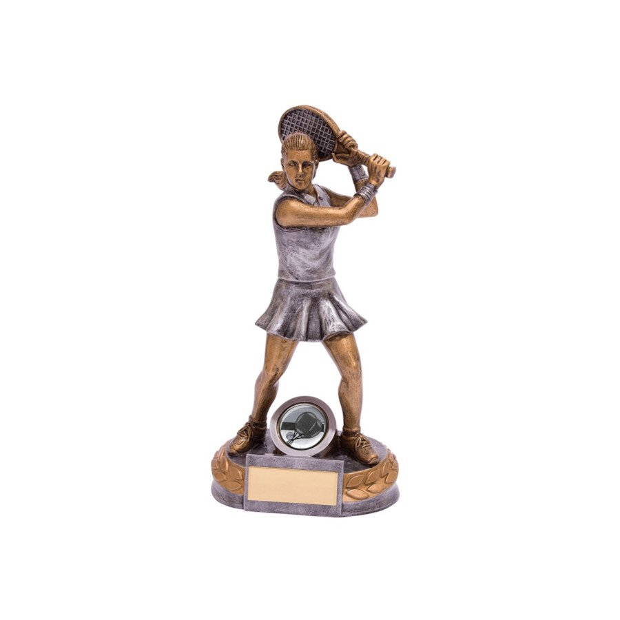 Resin Female Figure Tennis Trophy