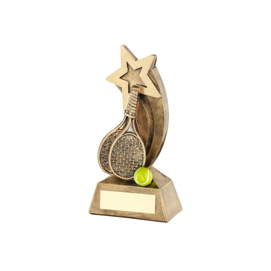 Resin Figurine Tennis Trophy with Free Engraving