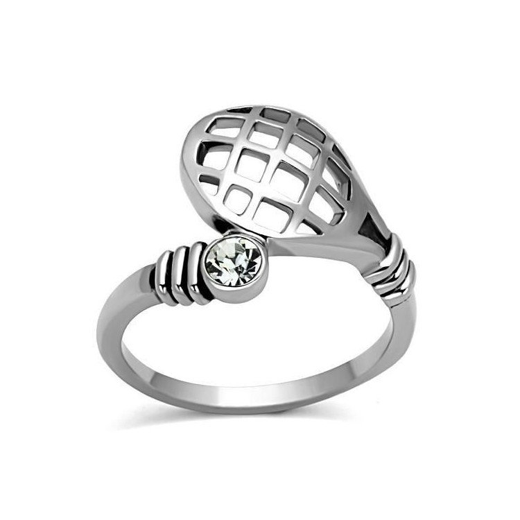 Stainless Steel Tennis Love Ring