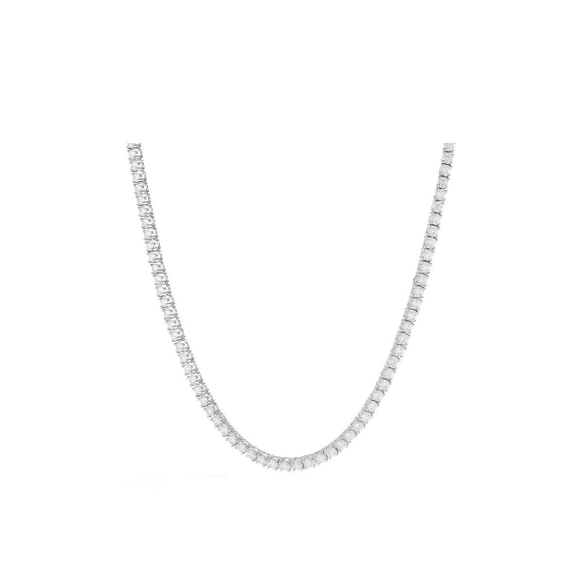 Sterling Silver Cubic Zirconia Tennis Chain