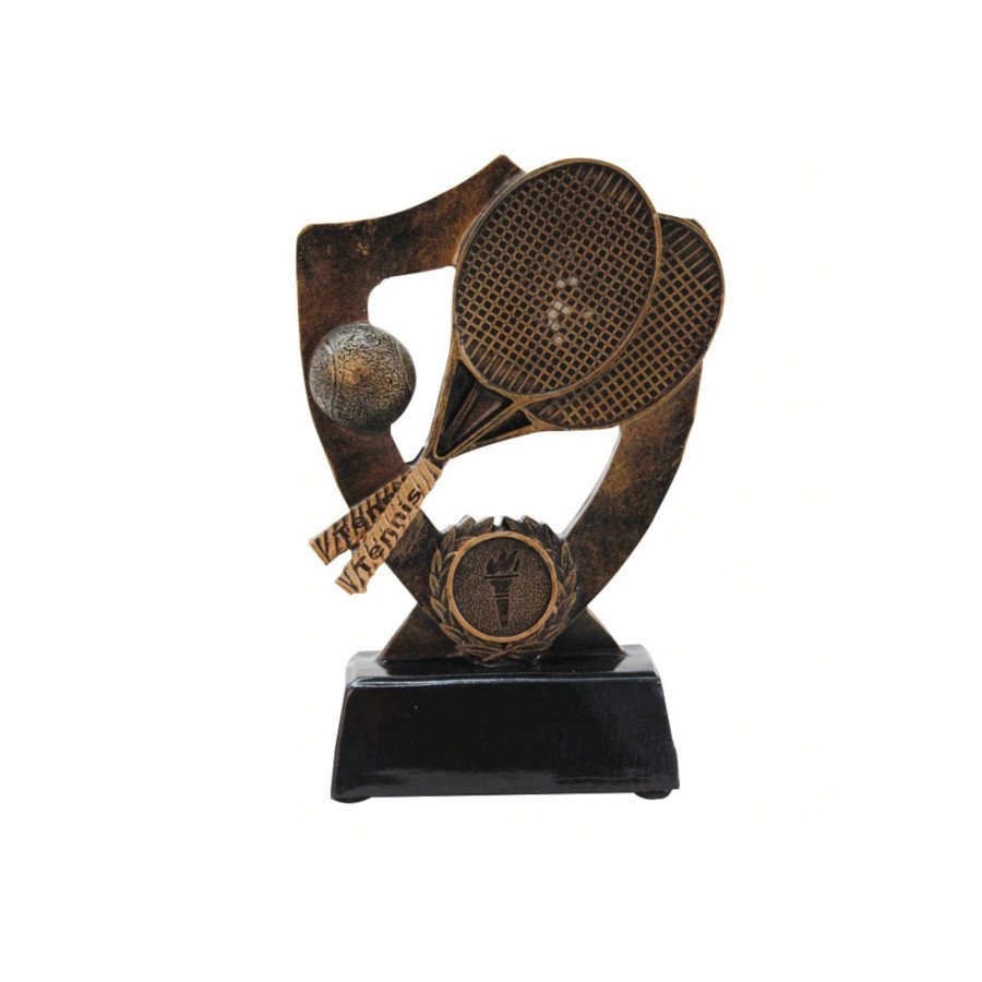 Tennis Trophy – Classic Golden Tennis Memorial Resin Figurine