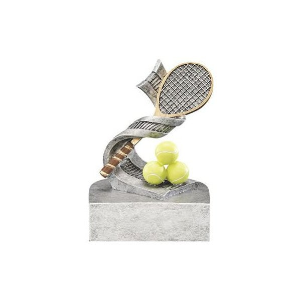 Tennis Trophy – Tennis Racket & Three Yellow Balls