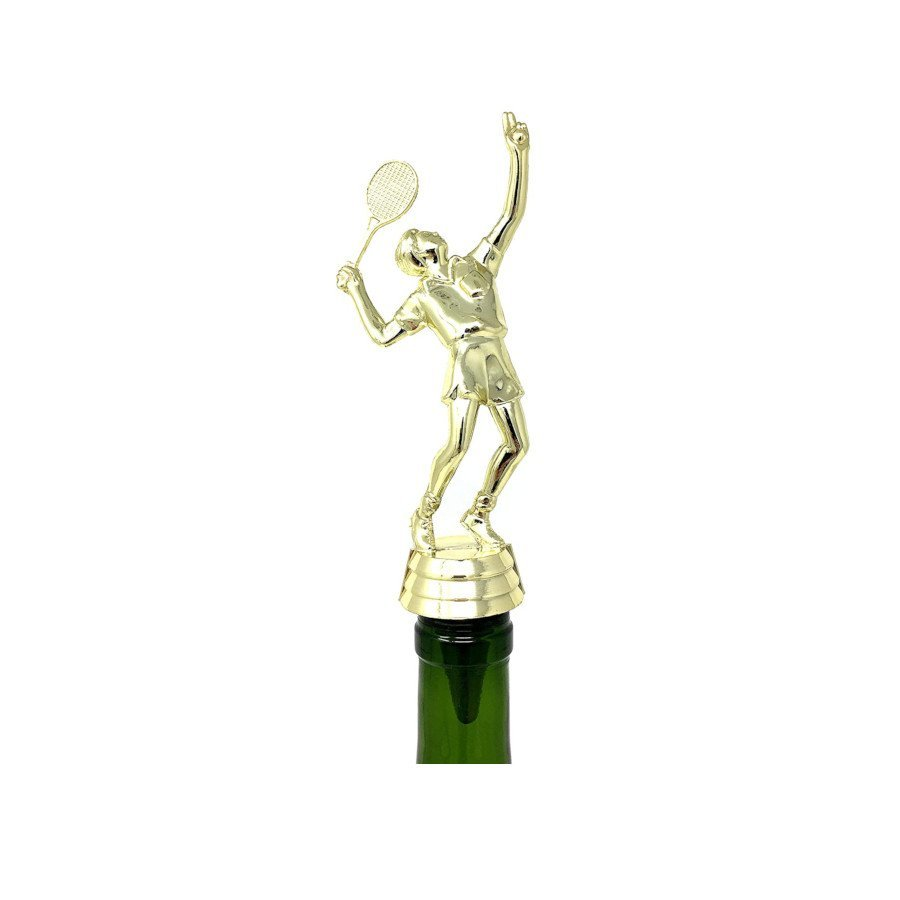 Tennis Trophy Top – Wine Bottle Stopper - Handmade with Stainless Steel Base and Repurposed