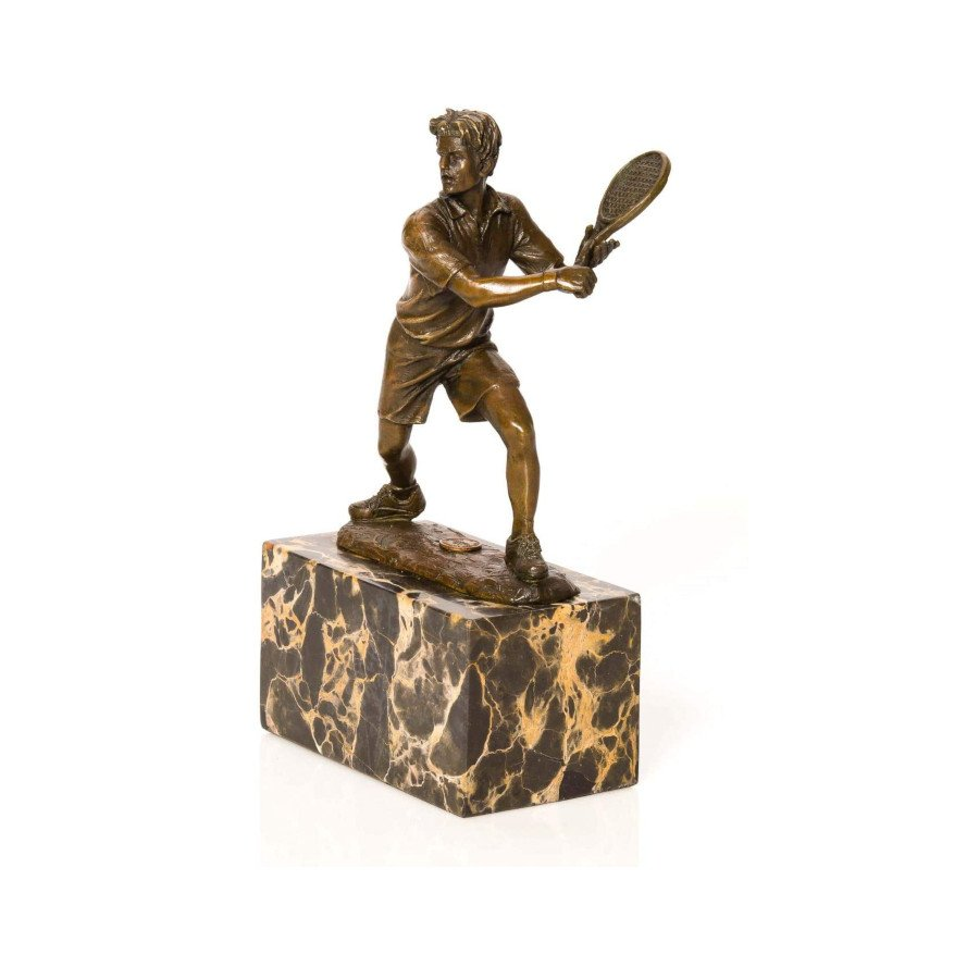 Tennis trophy – bronze tennis player figure-sculpture (antique style)