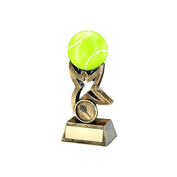 Trophy Tennis with 3D Ball and Free Engraving