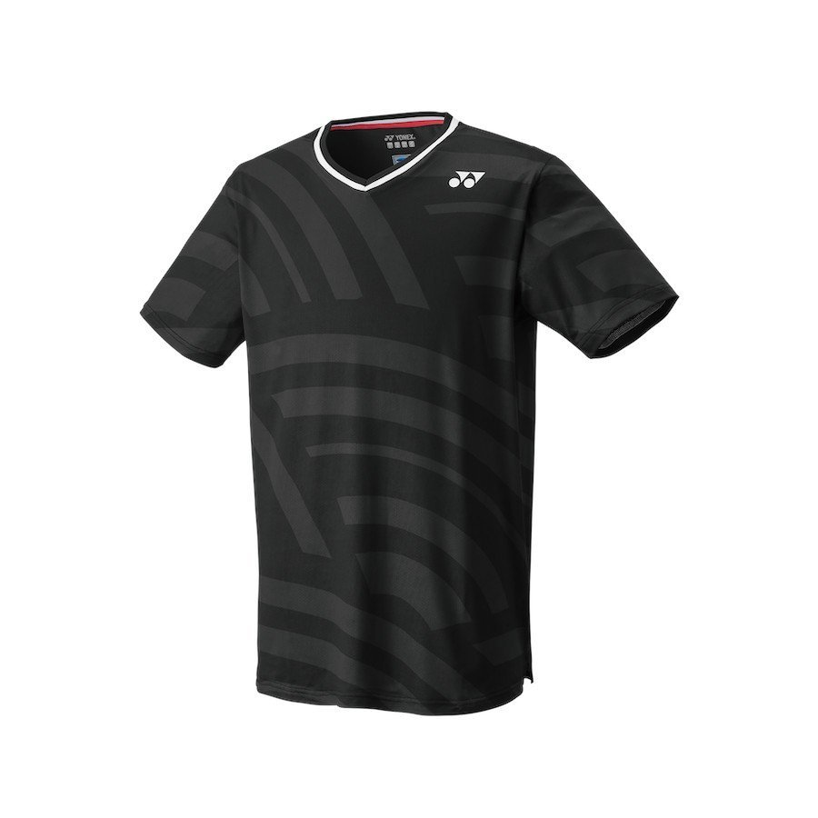 Yonex Tennis Apparel – Men's Crew Neck Shirt (Slim Fit) [black]